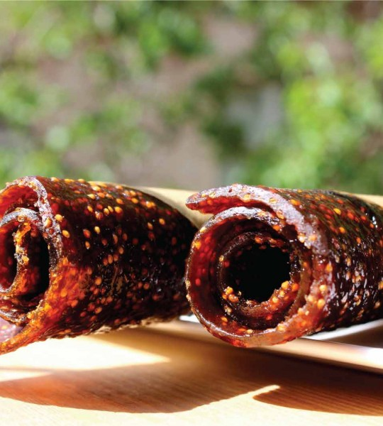 Fig dried fruit roll