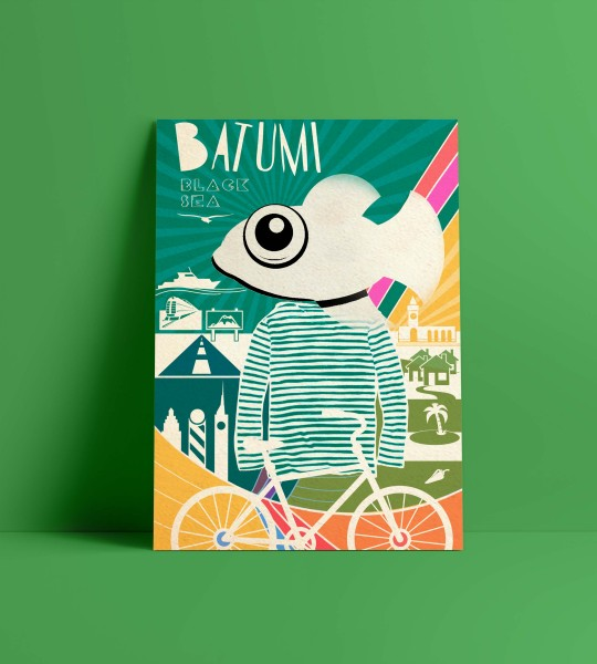 Fish-A4 format poster By Geoposter