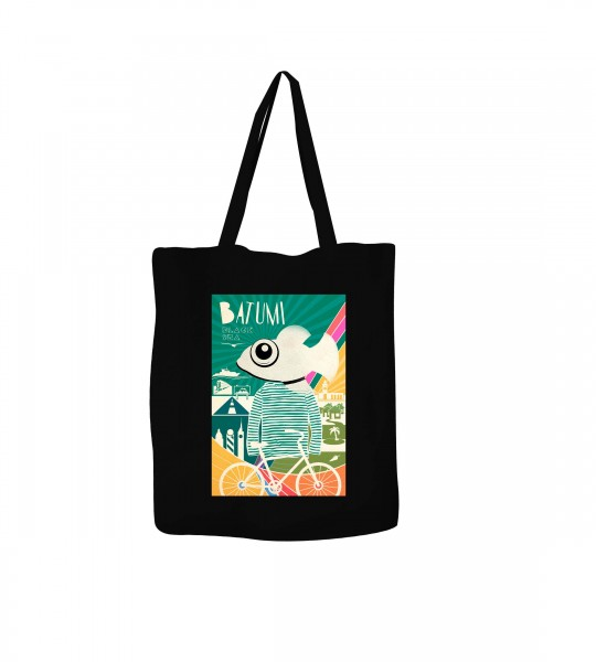"""Illustrated bag """"Batumi-Fish"""" by Geoposter"""